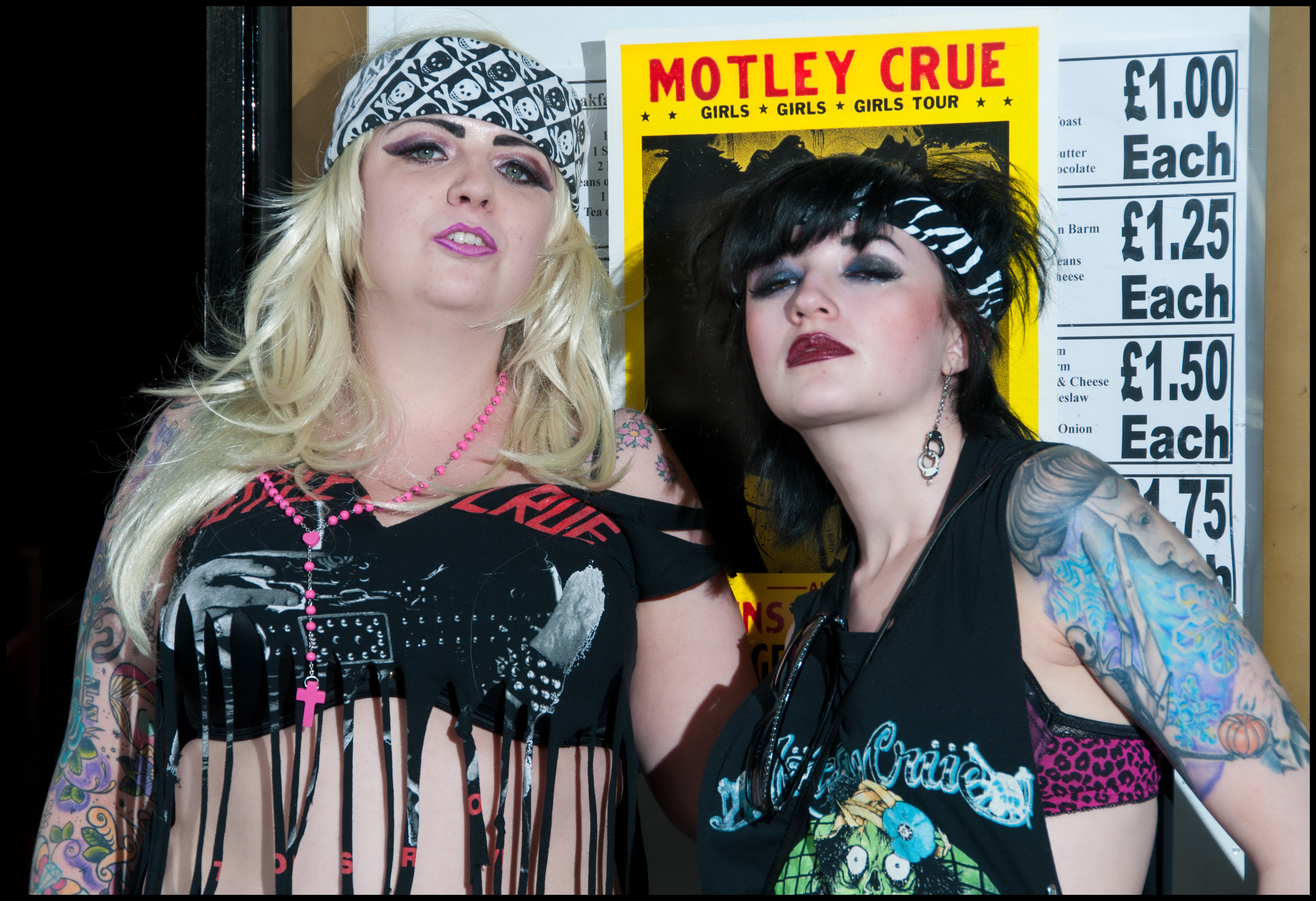 ... here's me and the awesome Kitty Liquor being 80's Crue groupies